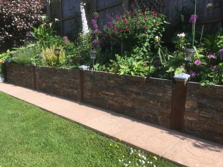 Garden wall decorative stone cladding