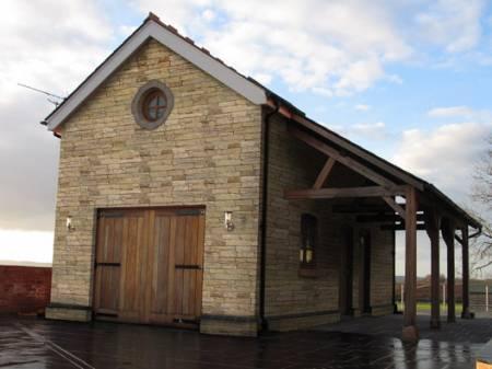 Garage decorative stone cladding