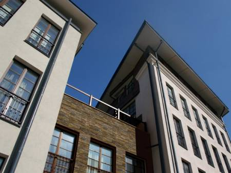 Commercial property natural stone cladding