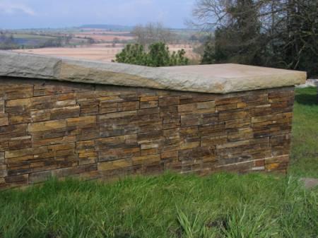 Rustic garden wall stone cladding