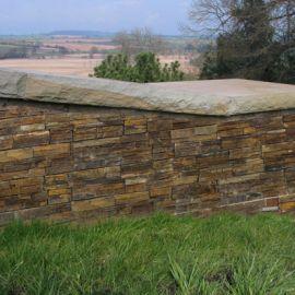 Rustic garden wall